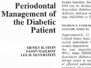 Periodontal Management of the Diabetic Patient